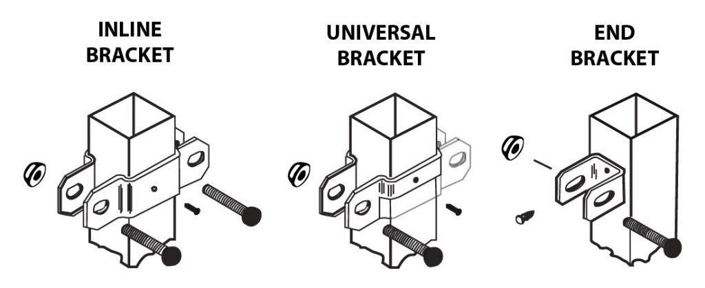 ornamental fence types of brackets